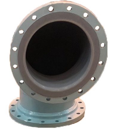 Rotolined pipe for a chemical plant